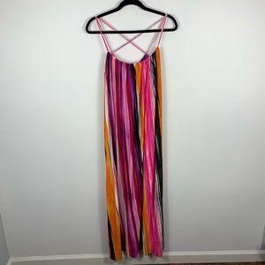 Calvin Klein colorful summer  maxi dress
